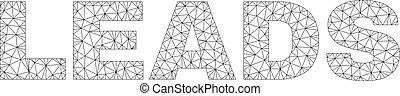 Polygonal 2D LEADS Text Label