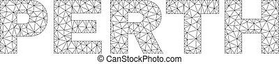 Polygonal 2D PERTH Text Label