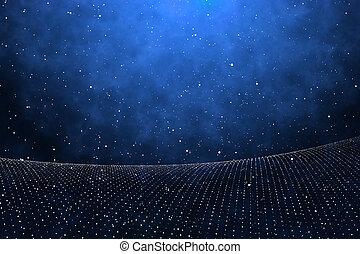 polygonal, abertos, fundo, espaço