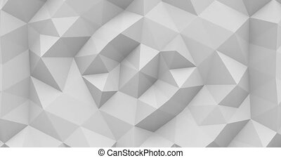 Polygonal abstract background - Abstract polygonal motion...