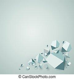 polygonal, abstract, geometrisch, achtergrond
