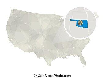 Vectors Of Oklahoma State Map Csp Search Clip Art - Oklahoma usa map