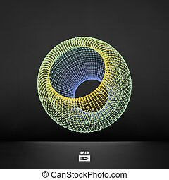 polygonal, abstrakcyjny, design.