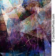 polygonal, abstrakcyjny, dzieło