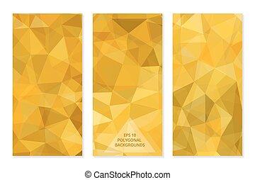 polygonal, abstrakcyjny, komplet, geometryczny, backgrounds.