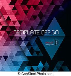 polygonal, abstrakcyjny, poster., triangle
