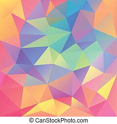 polygonal, abstrakcyjny, tło, geometryczny