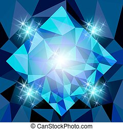 polygonal, abstrakcyjny, tło, gwiazdy