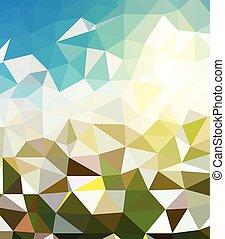 polygonal, abstrakcyjny, wektor, tło