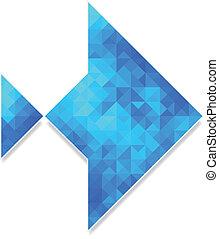 polygonal, abstrakt, fische