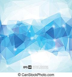 polygonal, abstrakt, geometrisk, bakgrund