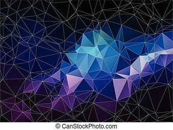polygonal, abstrakt, hintergrund, raum