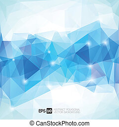 polygonal, abstraktní, geometrický, grafické pozadí