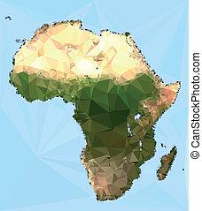 Polygonal Africa Map