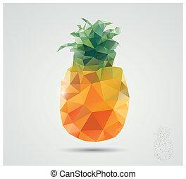 polygonal, ananas