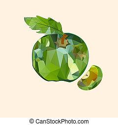 polygonal apple