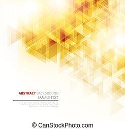 polygonal, astratto, poster., triangoli