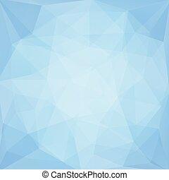 polygonal, błękitny, abstrakcyjny, wektor, tło