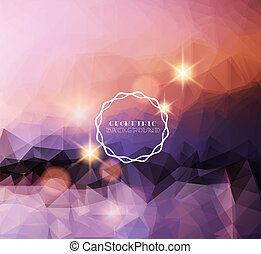 Polygonal background-Abstract landscape
