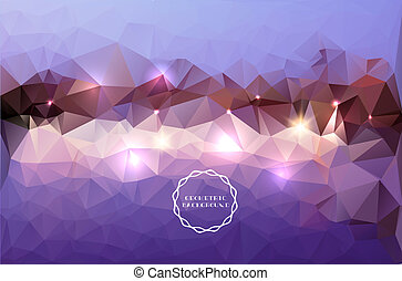 Polygonal background-Abstract lands