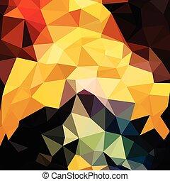 polygonal, bakgrund, mode, trianglar, abstrakt, färgrik, stilig, begrepp