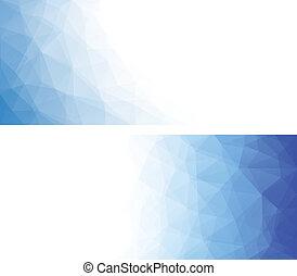 polygonal, banners., abstrakcyjny, geometryczny