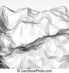 polygonal, biały, abstrakcyjny, tło