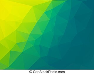 polygonal, bio, ベクトル, 緑の背景