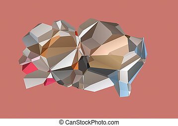 polygonal brain abstract