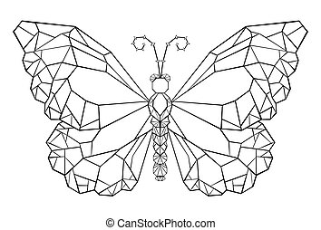 Polygonal butterfly monarch