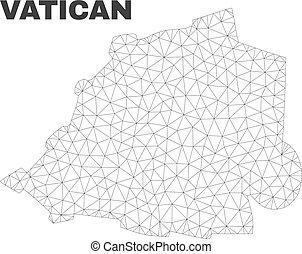 polygonal, carte, vecteur, maille, vatican