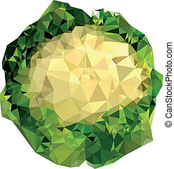 Polygonal Cauliflower Illustration