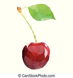 Polygonal Cherry in Vector
