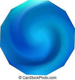 polygonal, chromatic, fondo.