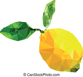 polygonal, citron, illustration