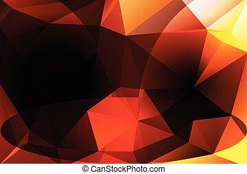 polygonal, colores oscuros, plano de fondo