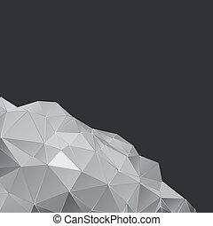 polygonal, conception abstraite, fond, géométrique