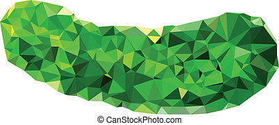 polygonal, concombre, illustration