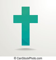 Polygonal Cross - detailed illustration of polygonal cross, ...