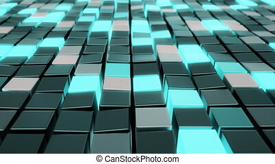Polygonal cubes. Seamless looping animation. - Polygonal...
