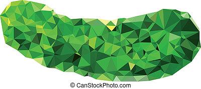 Polygonal Cucumber Illustration