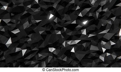 Polygonal Dark Background - Polygonal dark waving surface....