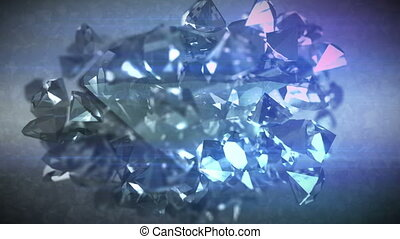 """Polygonal diamonds spinning around"" - ""Striking 3d..."