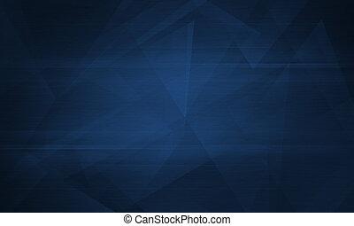 polygonal, dunkel, abstrakt, blauer hintergrund