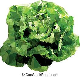 polygonal, ensalada, ilustración