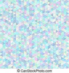 polygonal, experiência., abstratos, triangulo, seamless