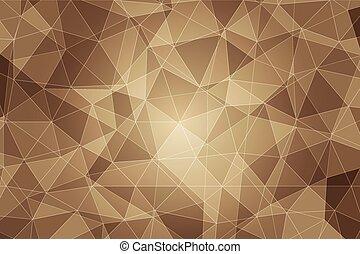polygonal, experiência marrom