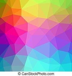 polygonal, farben, hintergrund