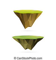 floating islands - Polygonal floating islands, isolated