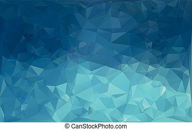polygonal, fond, gabarits, blanc, mosaïque, bleu, créatif, ...